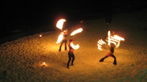 Sun Palace Beach Fire Show