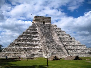 Me Flying over Chichen Itza